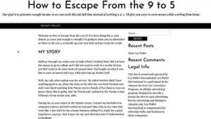 About Me | How to Escape From the 9 to 5